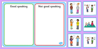 Good Speaking Sorting and Discussion Cards - good, speaking, listening, sorting, discussion, cards