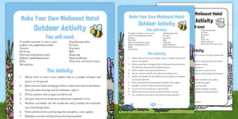 Make Your Own Minibeast Hotel Outdoor Activity - EYFS, Minibeasts, Creepy Crawlies, Bugs