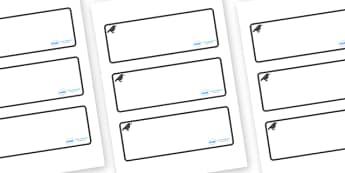 Raven Themed Editable Drawer-Peg-Name Labels (Blank) - Themed Classroom Label Templates, Resource Labels, Name Labels, Editable Labels, Drawer Labels, Coat Peg Labels, Peg Label, KS1 Labels, Foundation Labels, Foundation Stage Labels, Teaching Labels