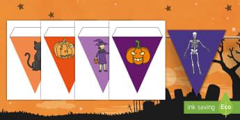 Halloween Display Bunting - Halloween, bunting, display, decor