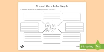 All About Martin Luther King Jr. Activity Sheet -  MLK, Civil Rights, Equal Rights, American History, I Have a Dream, Significant People, Black Histor