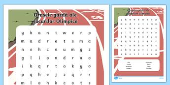 Orașe gazdă ale Jocurilor Olimpice - Vânătoare de cuvinte