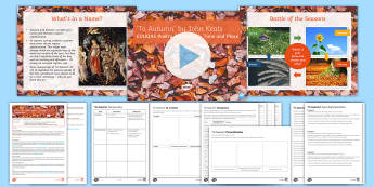 Introductory GCSE Poetry Lesson Pack to Support Teaching on 'To Autumn' by Johh Keats (EDUQAS) - Keats, EDUQAS, WJEC, Poetry Anthology, Time and place