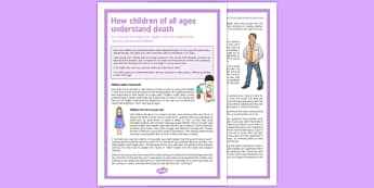 How Children of All Ages Understand Death - children, all ages, understand, death