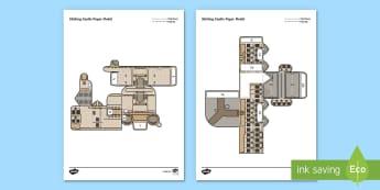 Stirling Castle Paper Model - Paper craft, folding, Scotland, Scottish landmarks, Stirlingshire,Scottish
