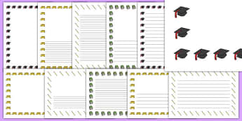 School Graduation Page Borders - school graduation, page borders, page, borders