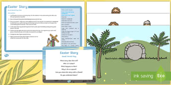 Easter Story Small World Play Idea and Printable Resource Pack - Easter, Bible story, Bible, Jesus, Easter, Imaginary Play, role play