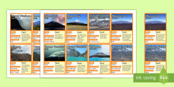 Volcano Top Card Game - Volcano, dangerous volcanoes, Cards, Game, Card, Geography