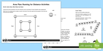 KS2 Running for Distance Activities Adult Guidance - PE, physical education, endurance running, running for distance, long distance running, endurance