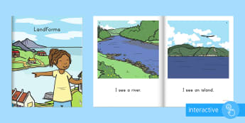Landforms Emergent Reader eBook - Social Studies, Photographs, Small Group Reading, Emergent Readers, Digital Books