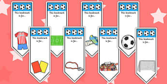Football World Cup Bookmarks - football, world cup, sport, read