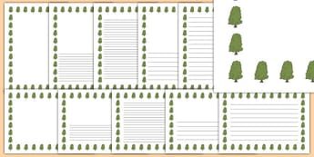 Horse Chestnut Tree Themed Page Borders - horse chestnut tree, themed, page borders, page, borders
