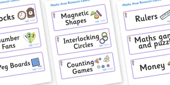 Selkie Themed Editable Maths Area Resource Labels - Themed maths resource labels, maths area resources, Label template, Resource Label, Name Labels, Editable Labels, Drawer Labels, KS1 Labels, Foundation Labels, Foundation Stage Labels, Teaching Labe