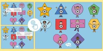 2D Shapes Picture Hotspots - EYLF, Numeracy, interactive, maths, properties, geometry, kindergarten, preschool, prep, pre-primary