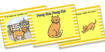 Pussy Cat, Pussy Cat PowerPoint - pussy cat pussy cat, pussy cat pussy cat where have you been?, nursery rhymes, nursery rhyme powerpoint, rhyme, song