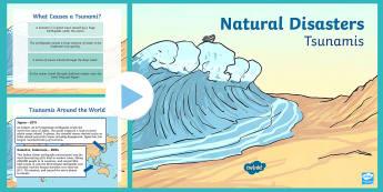 New Zealand Tsunami PowerPoint - New Zealand Natural Disasters, earthquake, tsunami, volcano, monsoon, hurricane, flood, tornado