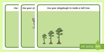 Rainforest Themed Playdough Mats - rainforest, playdough mats, playdough, mat, activity