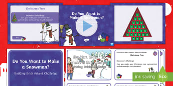 Building Brick Advent Challenge Resource Pack - Christmas, Lego, Technology, Christmas Activities, STEM