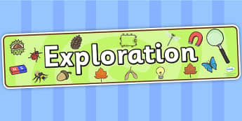 Exploration Display Banner - exploration, display banner, banner, header, banner for display, display header, header display, classroom display, header