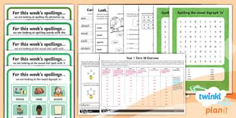 PlanIt Y1 Term 1B Bumper Spelling Pack - Spelling Pack,spell, national curriculum, SPaG, Y2, year 2