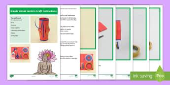 Simple Wesak Lantern Craft  Step-by-Step Instructions - Buddha, Buddhist, Activity, Art, How to Make