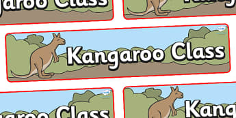 Kangaroo Themed Classroom Display Banner - Themed banner, banner, display banner, Classroom labels, Area labels, Poster, Display, Areas