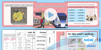 PlanIt Spelling Year 4 Term 3B W6: Adverbials of Manner Spelling Pack - PlanIt, Spellings, Year 4, Term 3B, W6, adverbs, adverbials, adverbials of mood, mood, suffixes, ly,