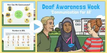 Deaf Awareness Week PowerPoint
