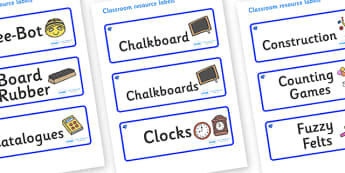 Sapphire Blue Themed Editable Additional Classroom Resource Labels - Themed Label template, Resource Label, Name Labels, Editable Labels, Drawer Labels, KS1 Labels, Foundation Labels, Foundation Stage Labels, Teaching Labels, Resource Labels, Tray La