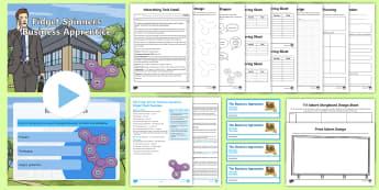 Fidget Spinner Business Apprentice Resource Pack - KS2, Key Stage 2, Key Stage Two, enterprise, topic, business, design,