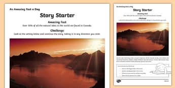 Story Starter Worksheet / Activity Sheet, worksheet