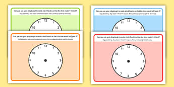 O'Clock Half Past and Quarter Past Time Playdough Mat English/Polish - OClock Half Past and Quarter Past Time Playdough Mat - mats, playdugh, quater, Timw, Polish translat