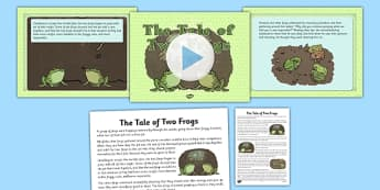 Tale of Two Frogs PowerPoint and Script - religion, amphibians, moral, perservere, story, education, studies, difference, assembly, ks1, ks2,