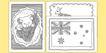 Australia Mindfulness Colouring Sheets - australia, mindfulness, colouring, colour, de-stress, calm down