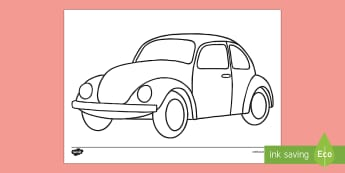 Doodle Draft Hippy Car Activity Sheet - ROI, Ireland, doodle, draft, sketch, starter, creative, drawing, art, activity sheet,Irish
