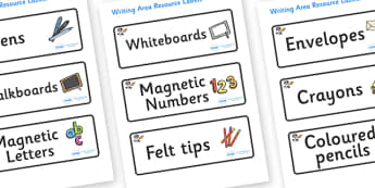 Space Themed Editable Writing Area Resource Labels - Themed writing resource labels, literacy area labels, writing area resources, Label template, Resource Label, Name Labels, Editable Labels, Drawer Labels, KS1 Labels, Foundation Labels, Foundation