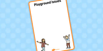 Playground Issues Staffroom Sign - playground, issues, staff room, sign