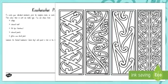 Make Your Own Kowhaiwhai Patterns Bookmarks - New Zealand Matariki, Matariki, New Year, Maori New Year, Maori, Celebration, Festival, bookmarks, k