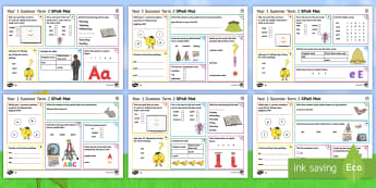 Year 1 Summer Term 2 SPaG Activity Mats - KS1, Key Stage 1, key stage one, year 1, Y1, year one, SPaG, spelling, punctuation, grammar, reading