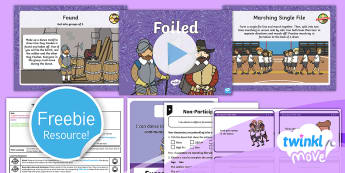 Twinkl Move - Year 2 Dance: The Gunpowder Plot Lesson 3 - Foiled - PE, Physical Education, Key Stage 1, KS1, Year 1, Y1, Year 2, Y2, Warm-Up, Dance, Sport, Exercise, T