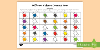 Different Colours Connect Four Game French - French Games, french colours, french pair games, french connect four,Scottish-translation
