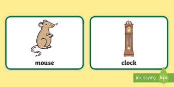 Hickory Dickory Dock Nursery Rhyme Picture Flashcards - baby sign language, baby sign, sign for, early communication, baby signing, baby sign language, comm