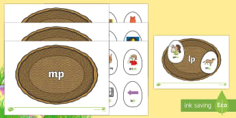 Phase 4 Easter Egg Sorting Phonics Game - EYFS, Early Years, KS1, Key Stage 1, Easter, phonics, letters and sounds, phase 4, blends, clusters,