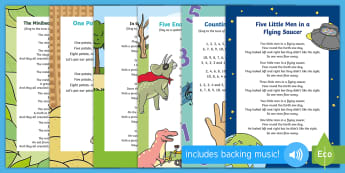 Number Ordering Songs and Rhymes Resource Pack - singing, song time, maths, counting, numeracy, Reciting and sequencing numbers, gold skills ladder