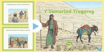 Pwerbwynt Y Samariad Trugarog -  Diwrnod Cenedlaethol Y Samariad Trugarog, National Good Samaritans Day, Y Samariad Trugarog,  Diwrn