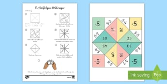 5 Malfolge Wahrsager Spiel - 5 Times Table Fortune Teller - 5 times table, times table, times tables, fortune teller, activity, c
