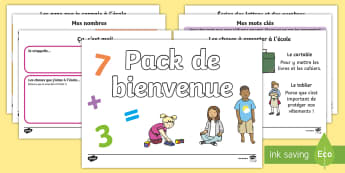 Pack de bienvenue Cycle 1/2 - Rentrée, école, classe, cycle 1, cycle 2, septembre, premier jour, welcome pack,French