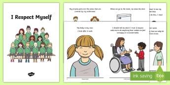 I Respect Myself Social situation Booklet - sexual health, pants rule, underwear rule, modesty, dignity, asn, sen, safeguarding