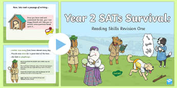 Year 2 SATs Survival: Reading Skills Revision PowerPoint 1 - SATs Survival Materials Year 2, SATs, assessment, 2017, English, SPaG, GPS, grammar, punctuation, sp