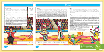 Circus Lesson Plan Ideas KS1 - circus, lesson plan, lesson plan idea, lesson ideas, lesson planning, teaching plan, KS1, key stage 1, KS1 lesson ideas